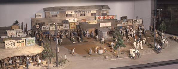 郷土資料館ヤミ市模型